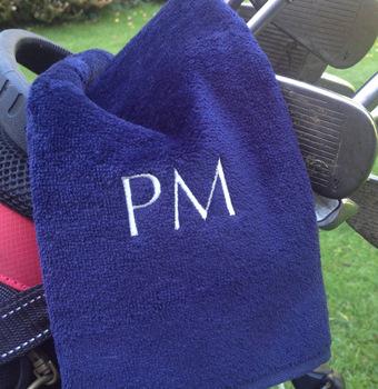 khăn golf thêu logo
